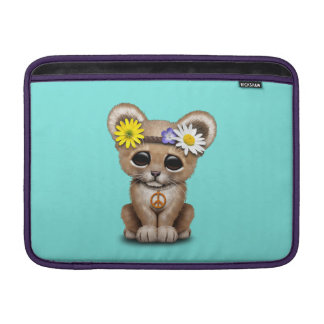 Sleeve De MacBook Leão bonito Cub do Hippie