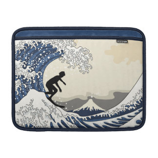 Sleeve De MacBook O grande surfista de Kanagawa