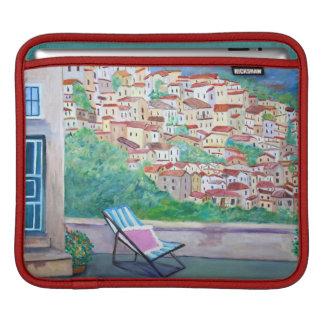 Sleeve Para iPad A vila de Apricale - almofada do iPad horizontal