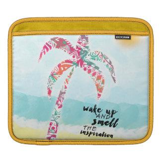 Sleeve Para iPad acorde e cheire a inspiração, a praia e a palma
