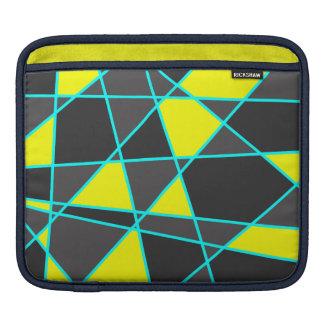 Sleeve Para iPad amarelo de néon brilhante geométrico elegante e