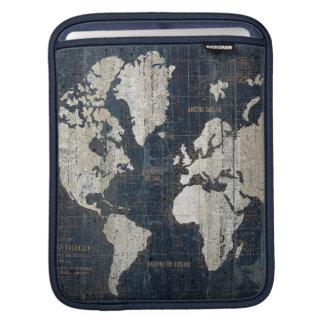 Sleeve Para iPad Azul do mapa de Velho Mundo