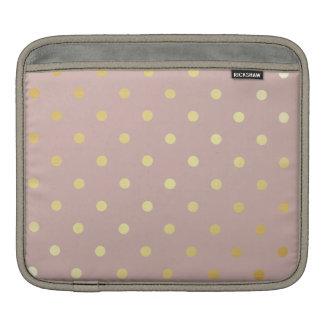 Sleeve Para iPad bolinhas elegantes do rosa do ouro do falso