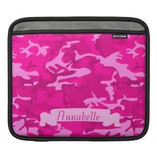 Sleeve Para iPad Camo cor-de-rosa customizável