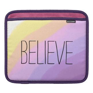 Sleeve Para iPad cores de néon brilhantes bonitos do unicórnio dos