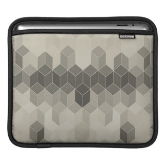 Sleeve Para iPad Design geométrico do cubo da escala cinzenta