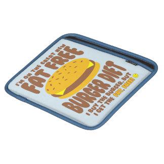 Sleeve Para iPad Dieta livre de gordura do hamburguer