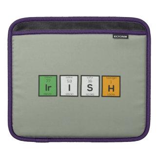 Sleeve Para iPad Elementos químicos irlandeses Zy4ra