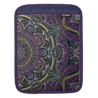 Sleeve Para iPad Estrelas sagrados e laço da mandala roxos e pretos