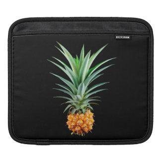 Sleeve Para iPad fundo preto minimalista elegante do abacaxi |