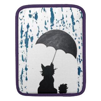 Sleeve Para iPad Gato sob o guarda-chuva