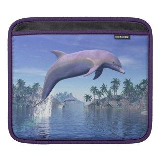 Sleeve Para iPad Golfinho nos trópicos - 3D rendem