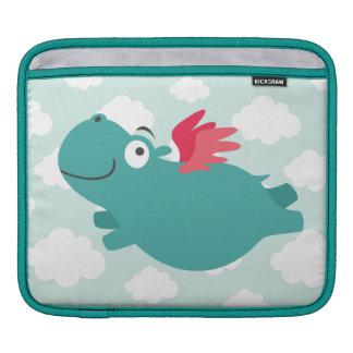 Sleeve Para iPad Ilustração do hipopótamo do vôo