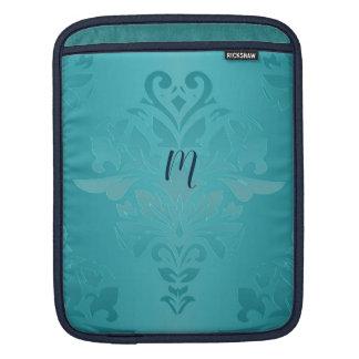 Sleeve Para iPad Luva do iPad do damasco do Grunge de turquesa