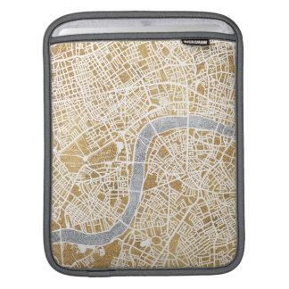 Sleeve Para iPad Mapa dourado da cidade de Londres