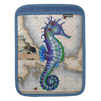 Sleeve Para iPad Mapa Gibraltar do cavalo marinho