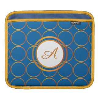 Sleeve Para iPad Monograma dos anéis de ouro