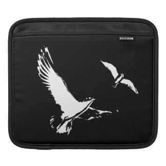 Sleeve Para iPad Pássaros de vôo pretos & brancos - marque a luva