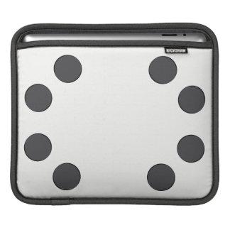 Sleeve Para iPad Pontos DarkGrey Checkered