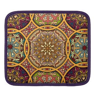Sleeve Para iPad Retalhos do vintage com elementos florais da