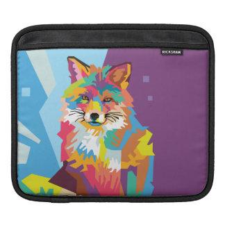 Sleeve Para iPad Retrato colorido do Fox do pop art