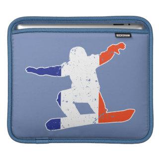 Sleeve Para iPad SNOWBOARDER Tricolor francês (branco)