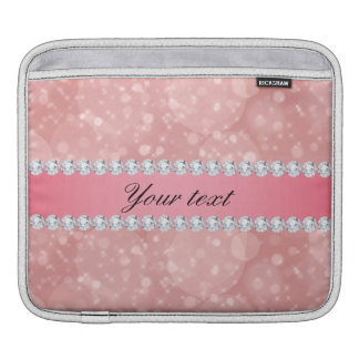 Sleeve Para iPad Sparkles cor-de-rosa e diamantes de Bokeh