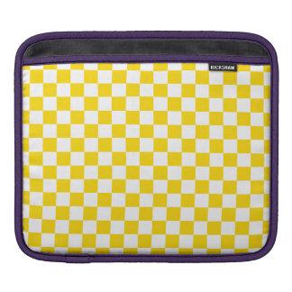 Sleeve Para iPad Tabuleiro de damas amarelo