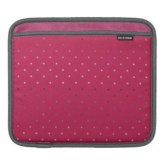 Sleeve Para iPad teste padrão de bolinhas cor-de-rosa do rosa do