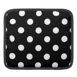 Sleeve Para iPad Teste padrão de bolinhas preto e branco