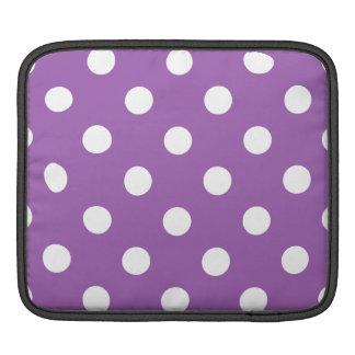 Sleeve Para iPad Teste padrão de bolinhas roxo e branco