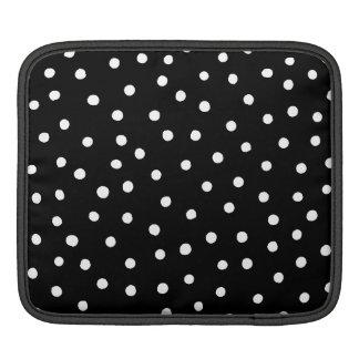 Sleeve Para iPad Teste padrão de pontos preto e branco dos confetes