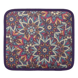 Sleeve Para iPad Teste padrão floral étnico abstrato colorido da