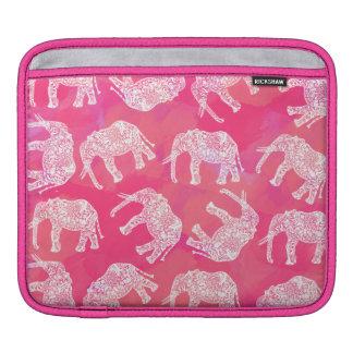 Sleeve Para iPad teste padrão floral tribal colorido cor-de-rosa