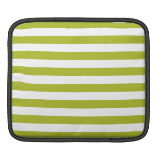 Sleeve Para iPad Teste padrão verde e branco da listra