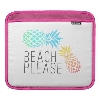 "Sleeve Para iPad verão na moda ""praia por favor"", abacaxi colorido"
