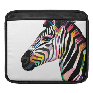 Sleeve Para iPad Zebra colorida do pop art no fundo branco