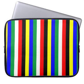 Sleeve Para Laptop A bandeira de África do Sul listra linhas símbolo