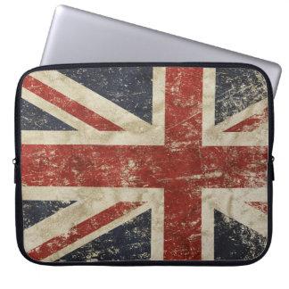Sleeve Para Laptop A bolsa de laptop com a bandeira do vintage de Grâ