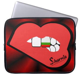 Sleeve Para Laptop A bolsa de laptop de Bulgária dos lábios de