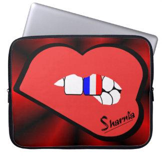 Sleeve Para Laptop A bolsa de laptop de France dos lábios de Sharnia