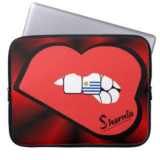 Sleeve Para Laptop A bolsa de laptop de Uruguai dos lábios de Sharnia