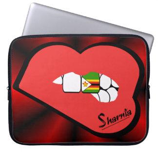 Sleeve Para Laptop A bolsa de laptop de Zimbabwe dos lábios de