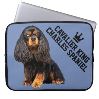 Sleeve Para Laptop A bolsa de laptop descuidado do Spaniel de rei
