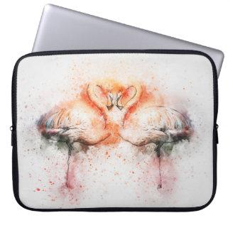 Sleeve Para Laptop A bolsa de laptop do neopreno do flamingo 15
