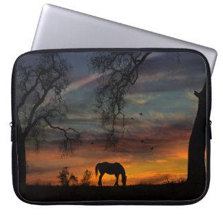 Sleeve Para Laptop A bolsa de laptop do sudoeste do cavalo bonito