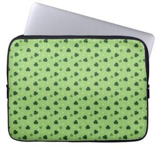 Sleeve Para Laptop A bolsa de laptop do teste padrão do trevo