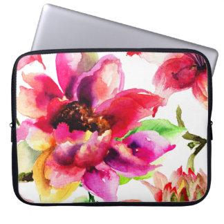 """Sleeve Para Laptop A bolsa de laptop floral feminino 15"""" dos lírios"""