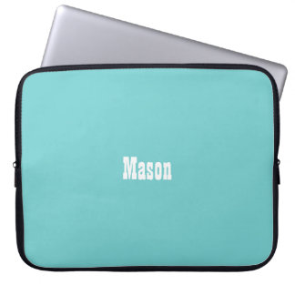 Sleeve Para Laptop A bolsa de laptop personalizada céu da cerceta