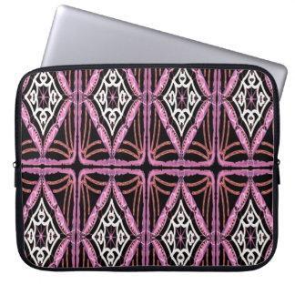 Sleeve Para Laptop A bolsa de laptop preto e branco cor-de-rosa do